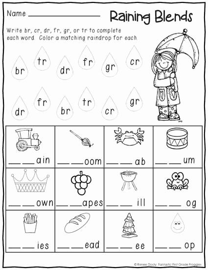 Blends Worksheet for First Grade Beautiful No Prep First Grade January Winter Print and Go Morning