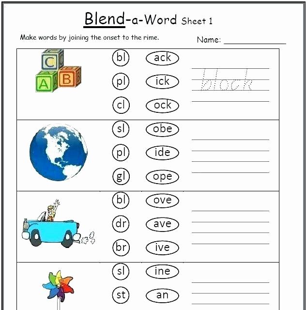 Blends Worksheet for First Grade Best Of Blends Worksheets for 1st Grade Blending Worksheets for
