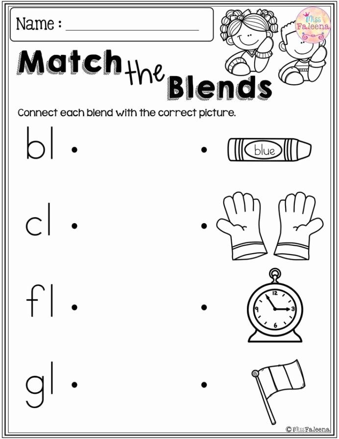 Blends Worksheet for First Grade Fresh Grade 1 Bl Blends Worksheets Pin Prefixes Suffixes