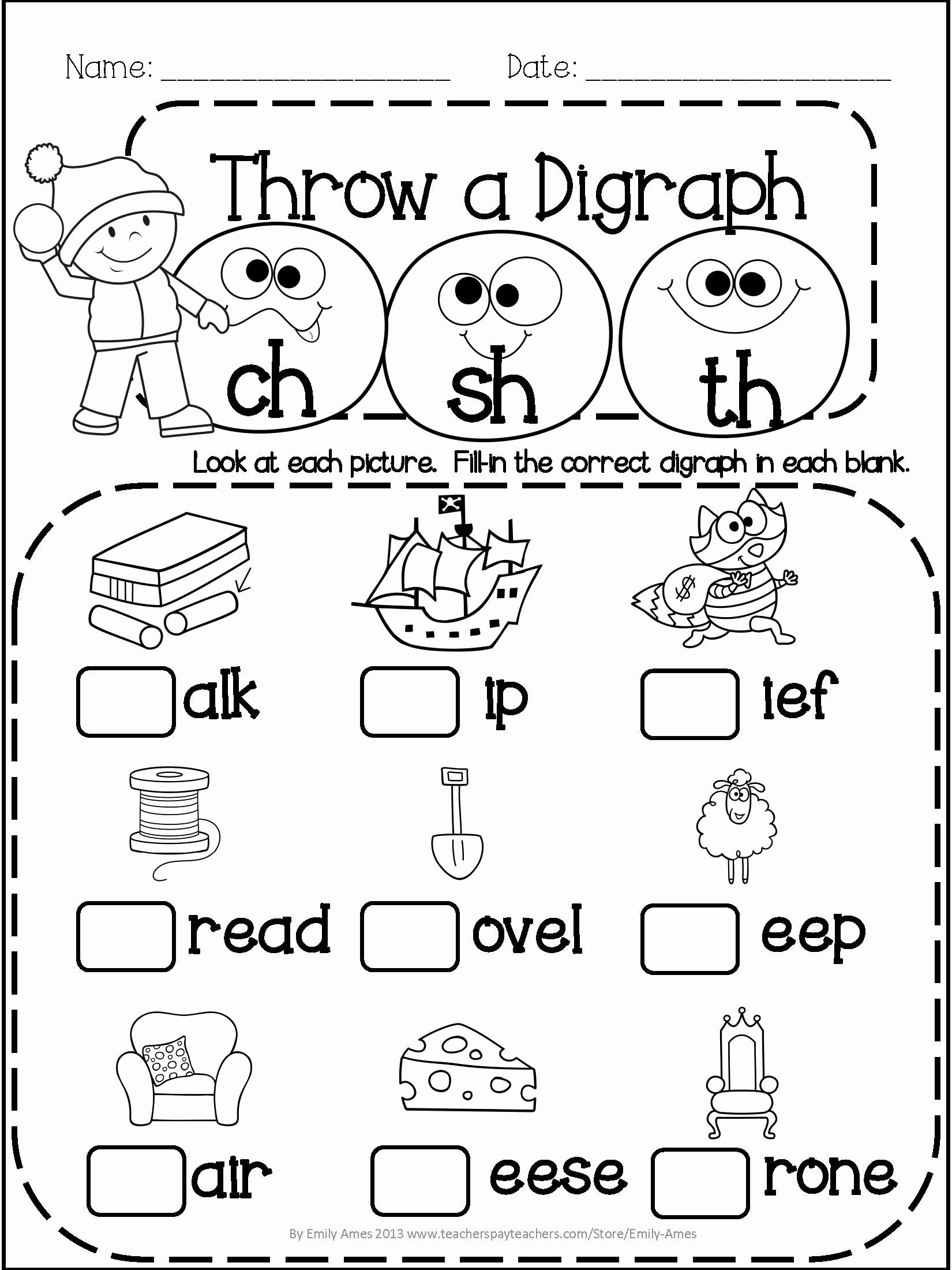 Blends Worksheet for First Grade Inspirational 20 Blends Worksheets for 1st Grade Dzofar Printable