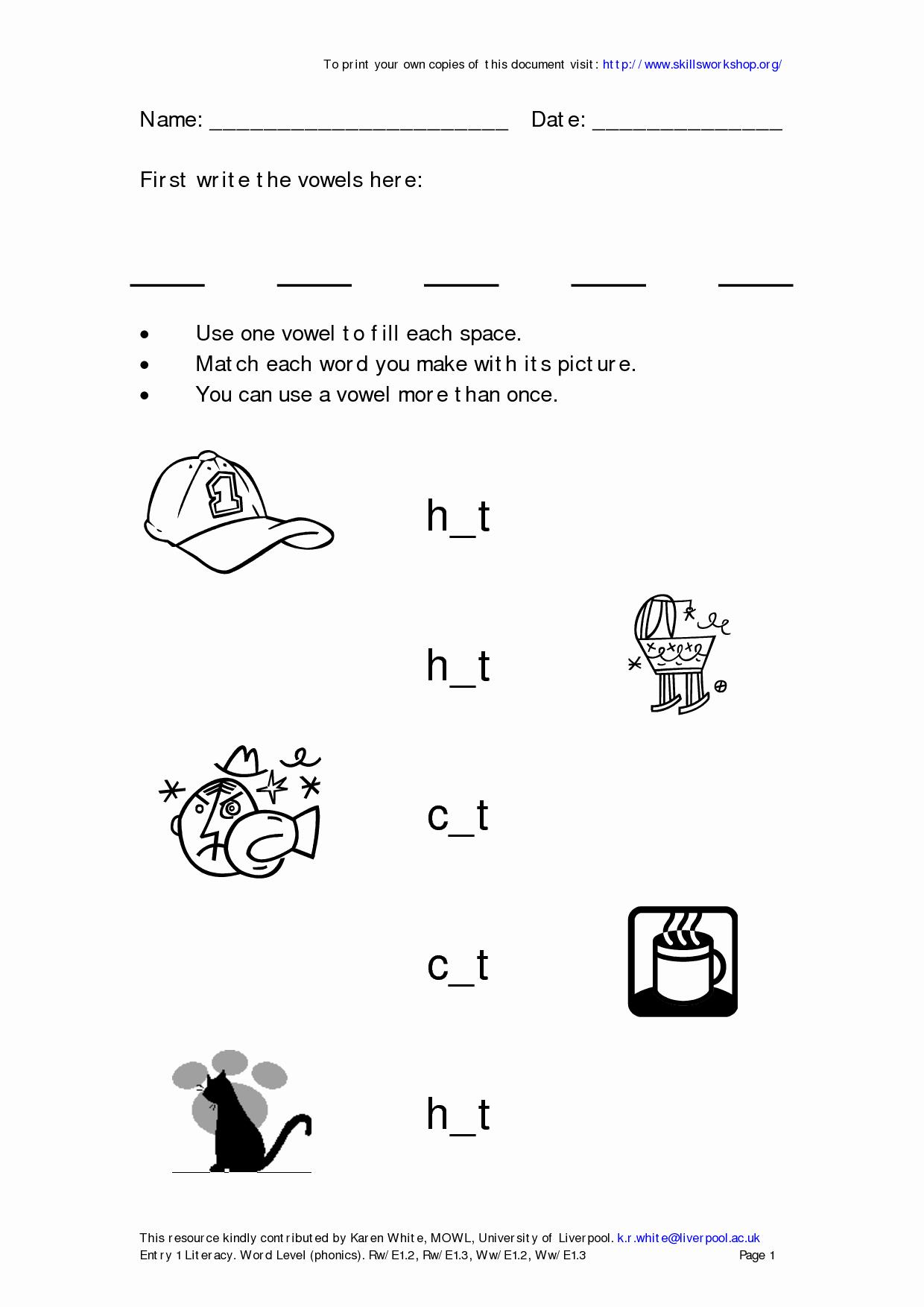Blends Worksheet for First Grade Lovely 12 Best Of First Grade Phonics Worksheets Blends