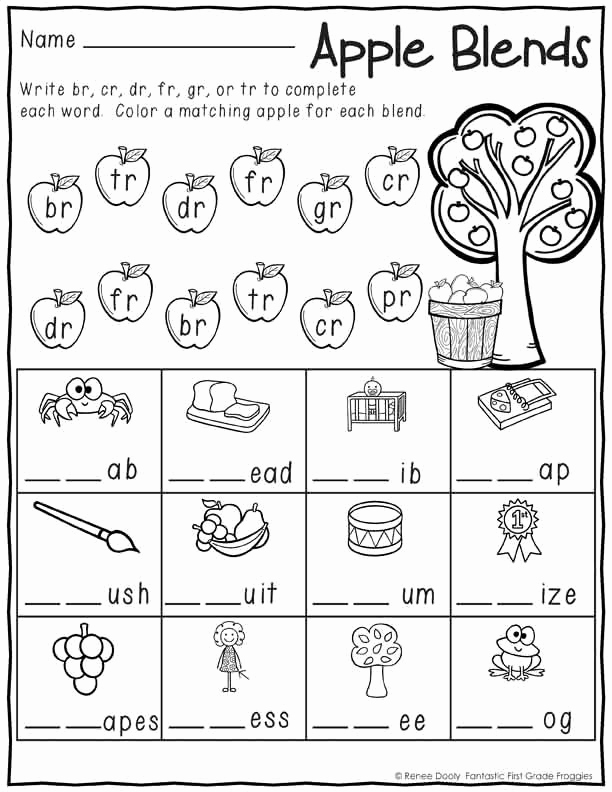 Blends Worksheet for First Grade Luxury 1st Grade Morning Work No Prep September Worksheets