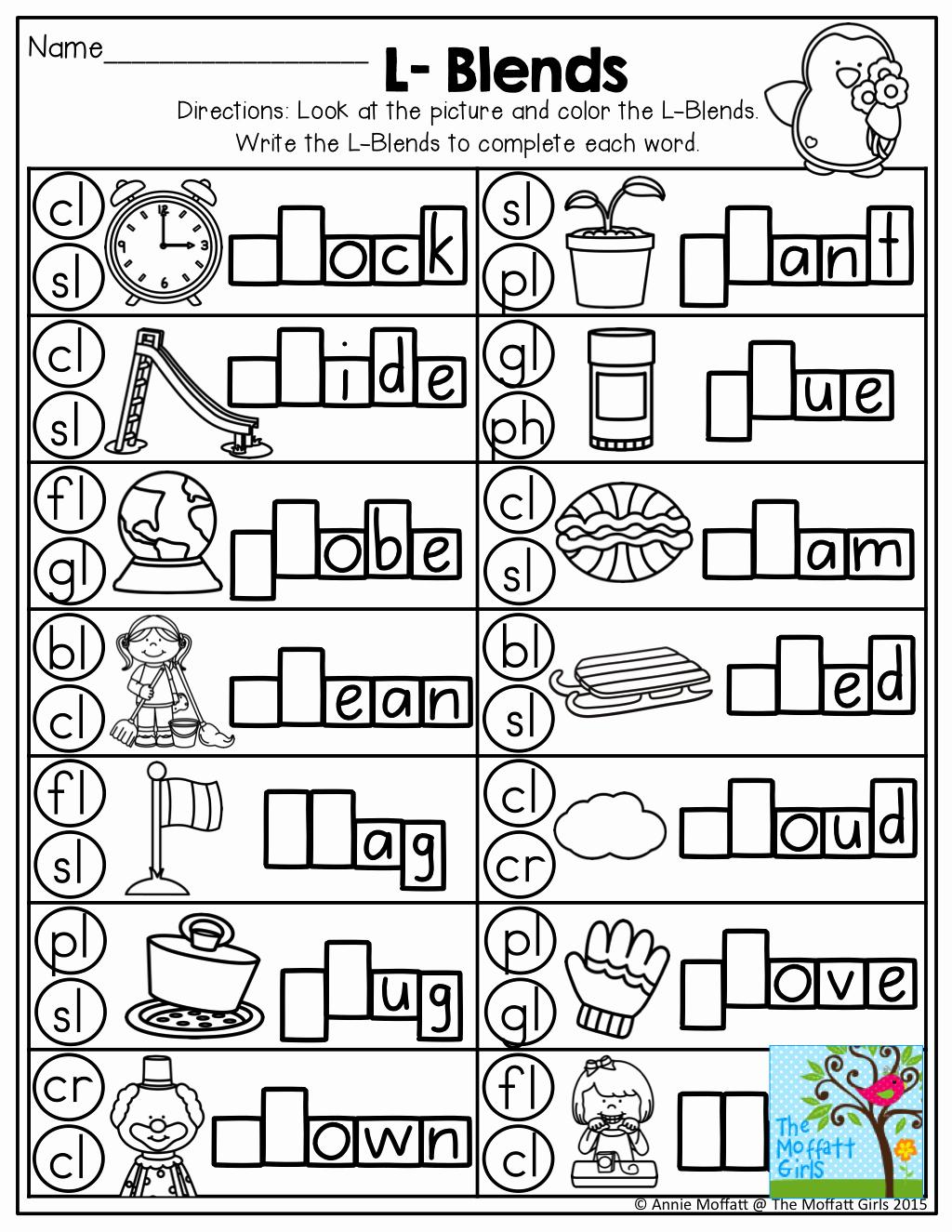 Blends Worksheet for First Grade Luxury Best 25 L Blends Ideas On Pinterest