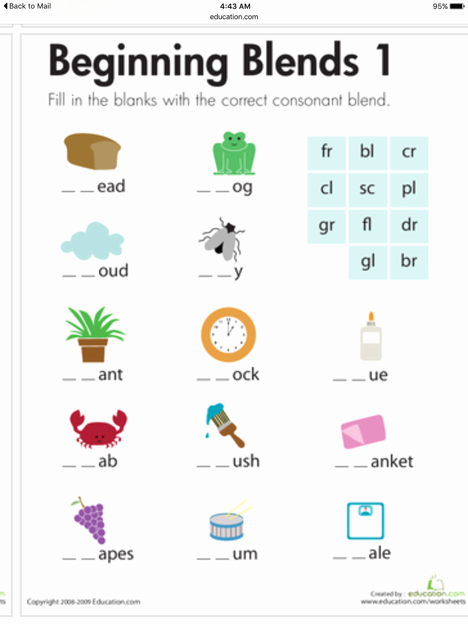 Blends Worksheet for First Grade Luxury Pin by Helen Creese On Speech therapy