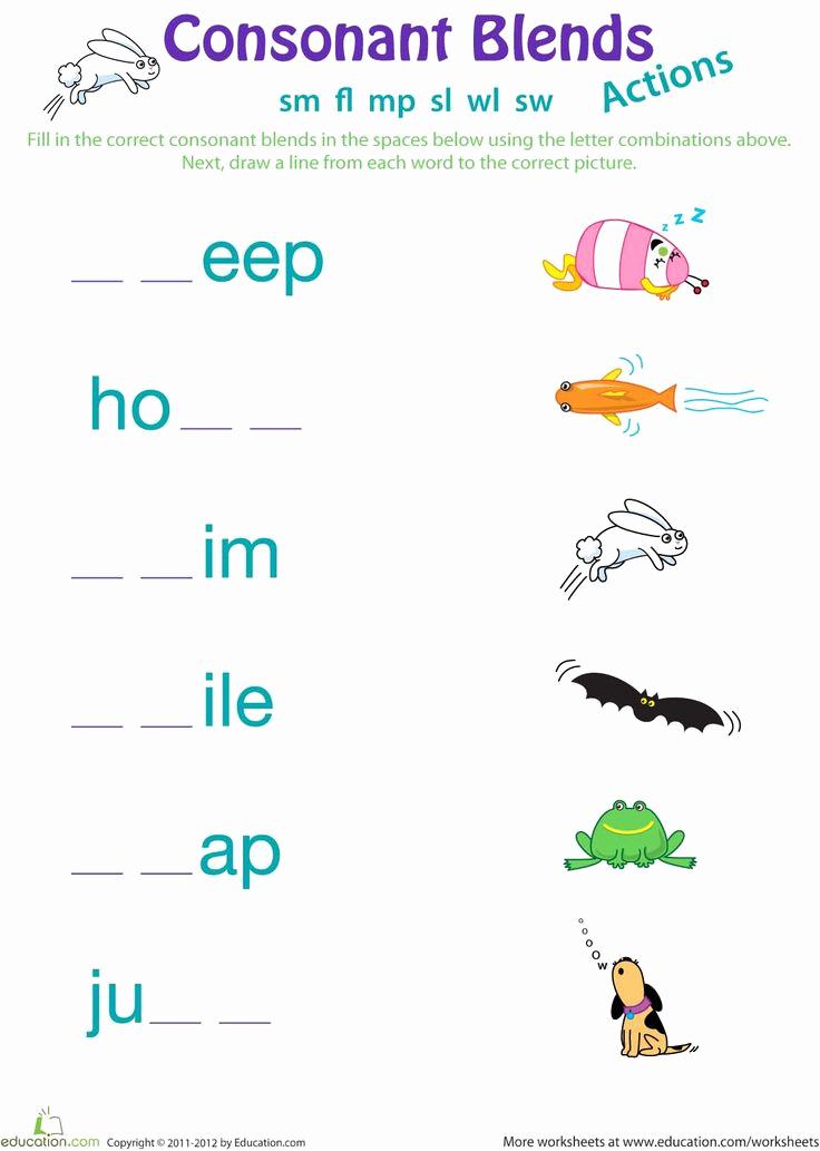 Blends Worksheet for First Grade New 18 Best 1st Grade Spelling Images On Pinterest