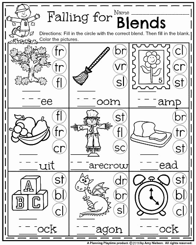 Blends Worksheet for First Grade New 1st Grade Math and Literacy Worksheets with A Freebie