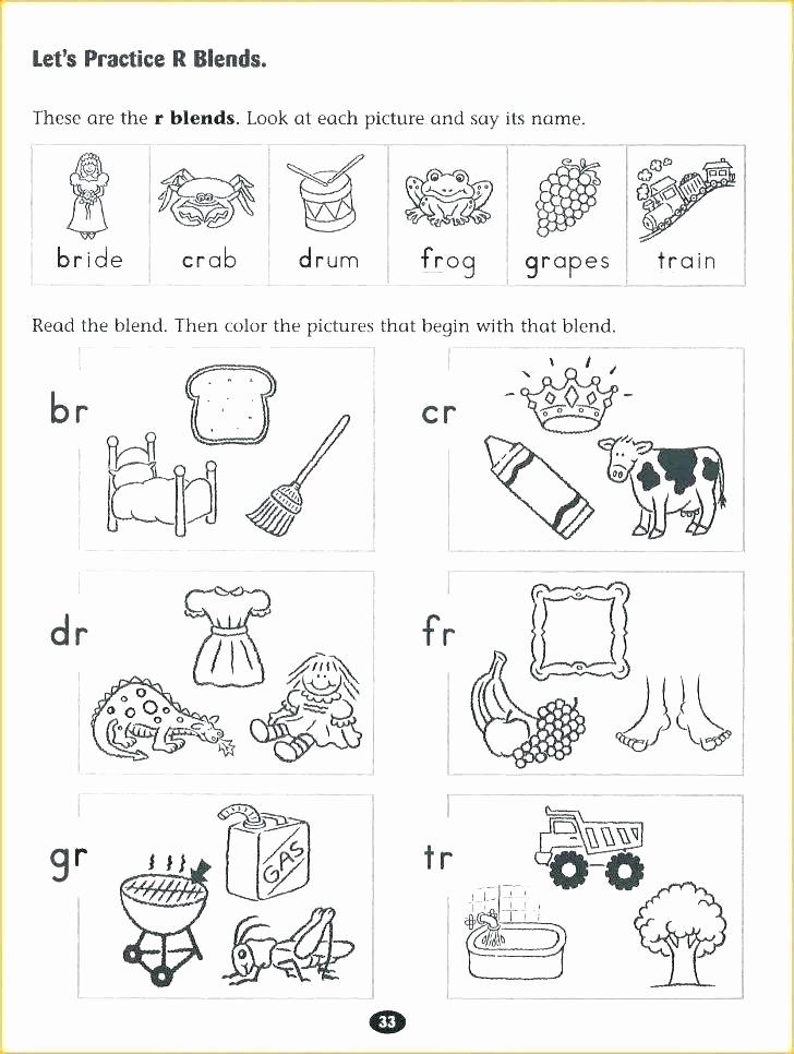 Blends Worksheet for First Grade Unique Blending Worksheets 1st Grade Ending Blends Worksheets