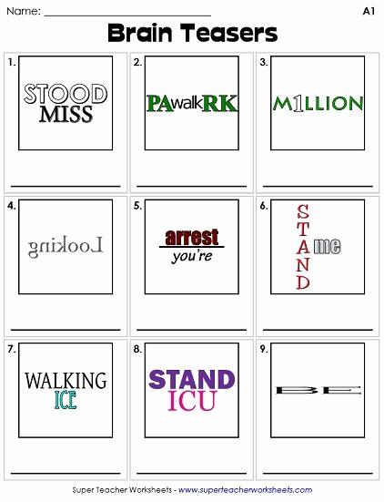 Brain Teaser Worksheets Pdf Lovely Brain Teasers Worksheets – Worksheets Samples