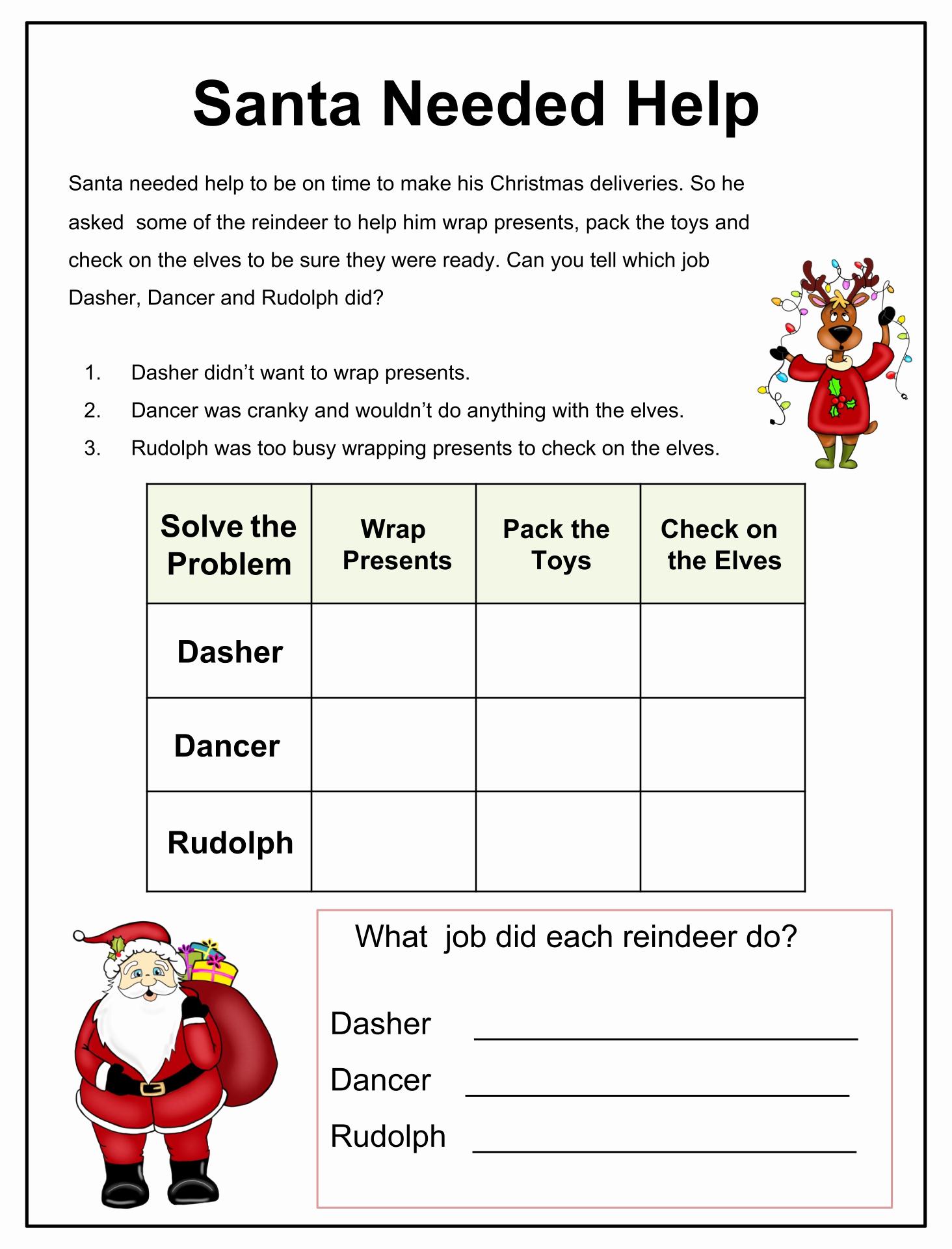 Brain Teasers for Kids Worksheet Unique 7 Best Christmas Brain Teasers Activities Printables