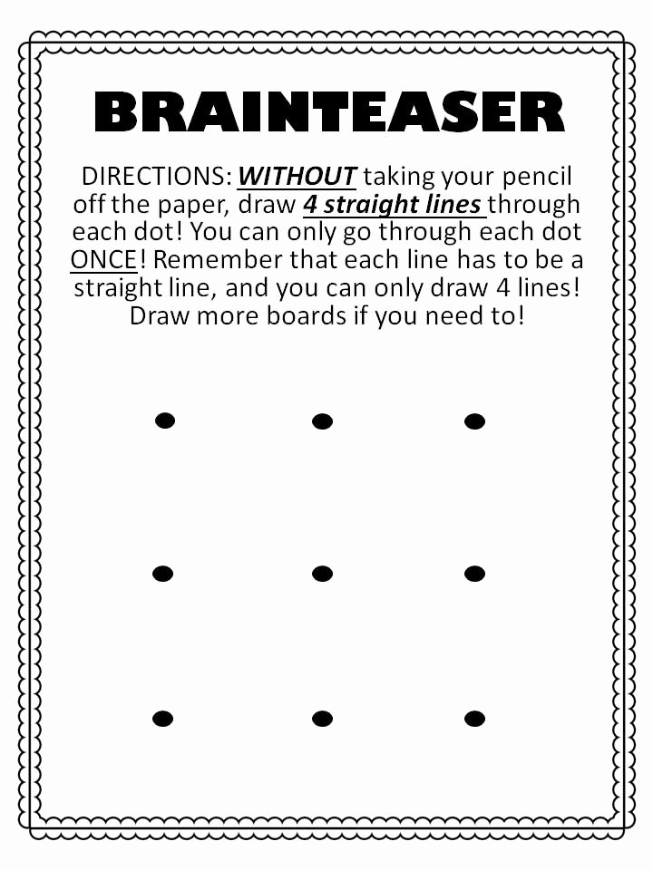 Brain Teasers for Kids Worksheet Unique Brainteaser