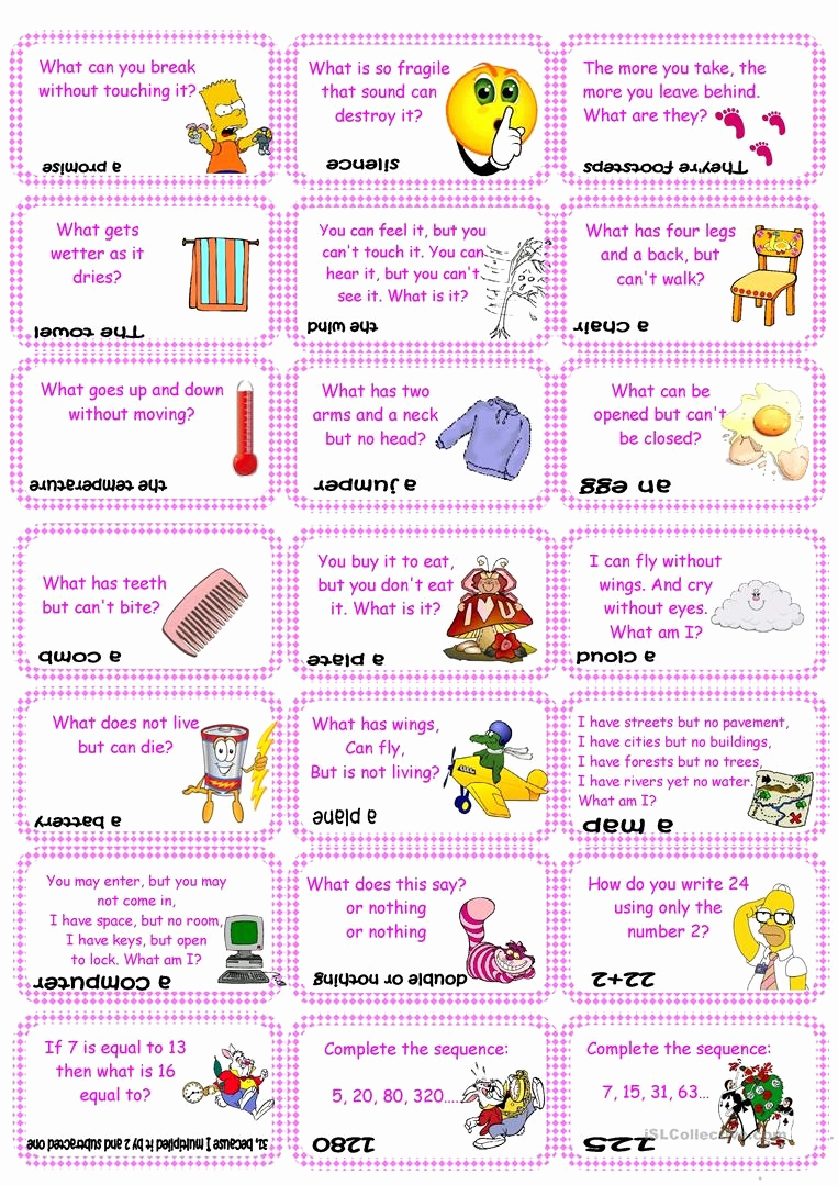 Brain Teasers for Kids Worksheet Unique Free Printable Brain Teasers Adults