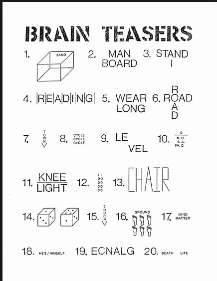 Brain Teasers Worksheet 2 Answers Best Of Pin On Writing Challenge