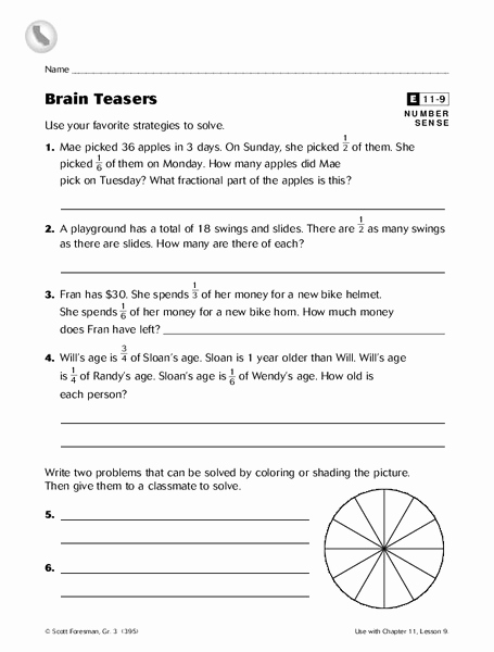 Brain Teasers Worksheet 2 Answers Elegant Brain Teaser Worksheets for Grade 2 Free Worksheet