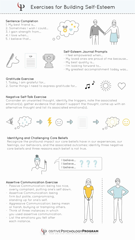 Building Self Confidence Worksheets Best Of Exercises for Building Self Esteem