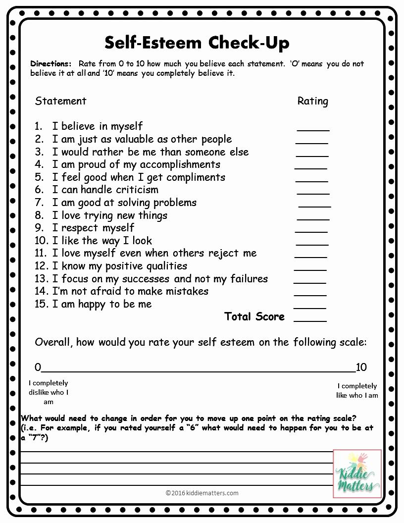 Building Self Confidence Worksheets Best Of Self Esteem Building Worksheets Printable
