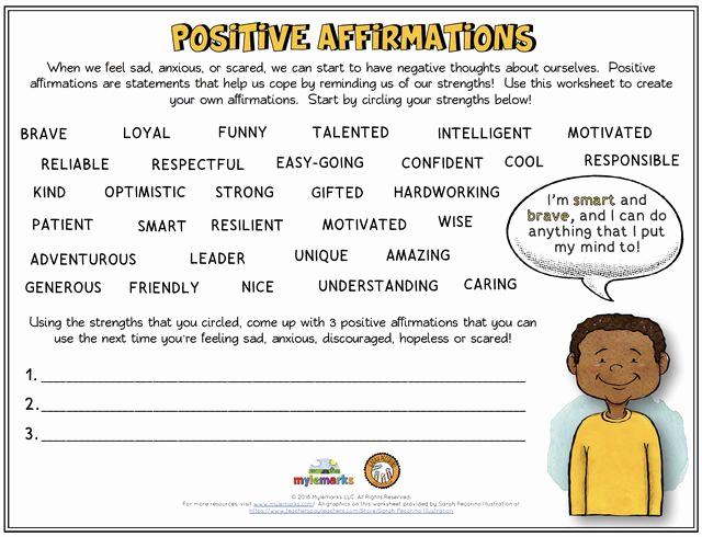 Building Self Confidence Worksheets Inspirational Self Esteem and Confidence Building Worksheets for Kids