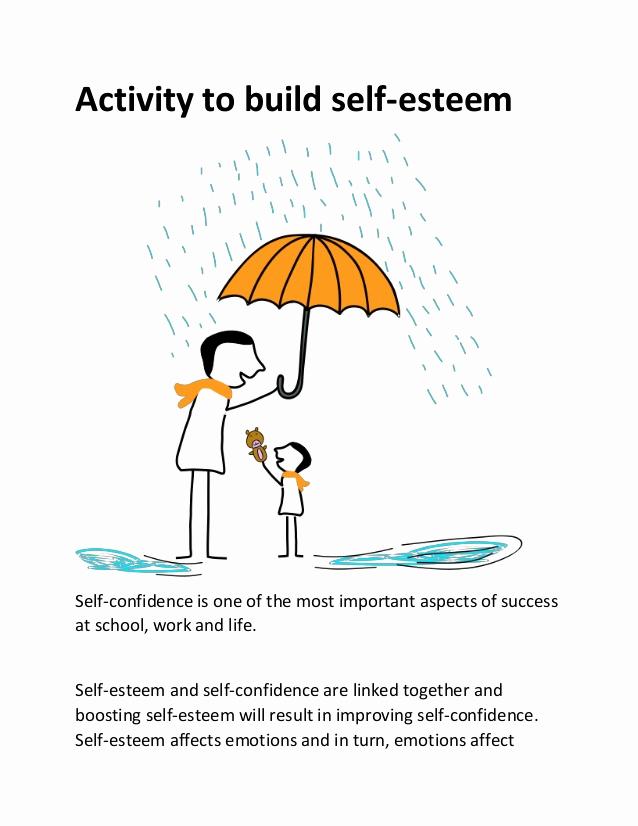 Building Self Confidence Worksheets Luxury Activity to Build Self Esteem
