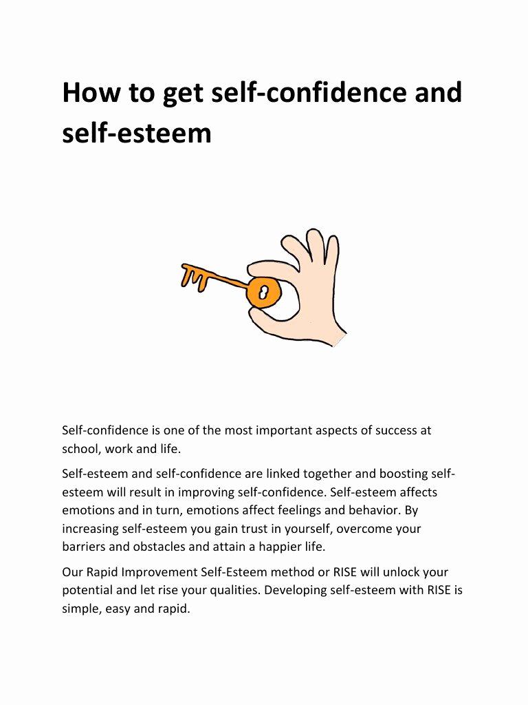 Building Self Confidence Worksheets New Self Esteem Worksheets