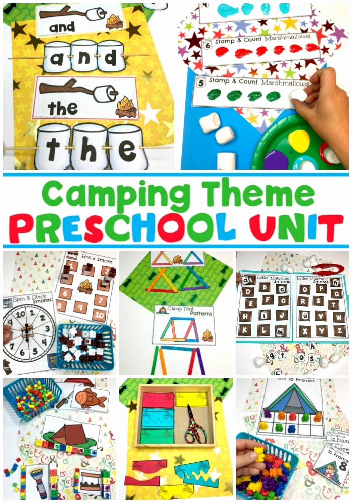 Camping themed Worksheets Awesome Camping theme Preschool Activities Planning Playtime