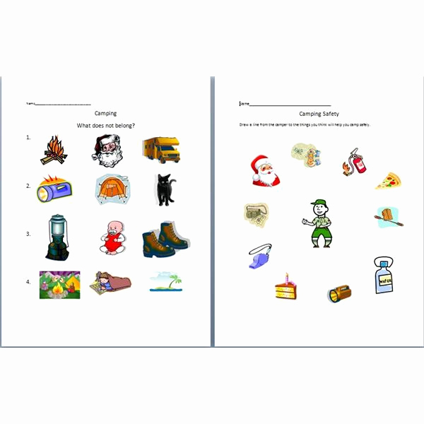 Camping themed Worksheets Beautiful Six Worksheets to Introduce Camping Help Preschoolers