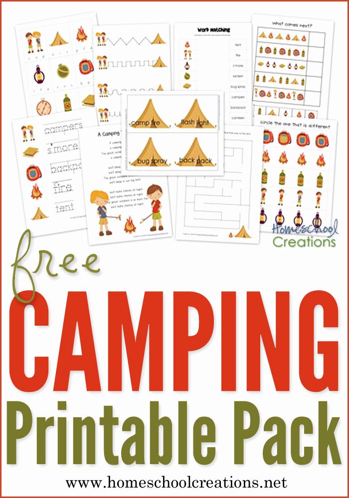 Camping themed Worksheets Best Of Camping Preschool Pack Free Preschool Printables