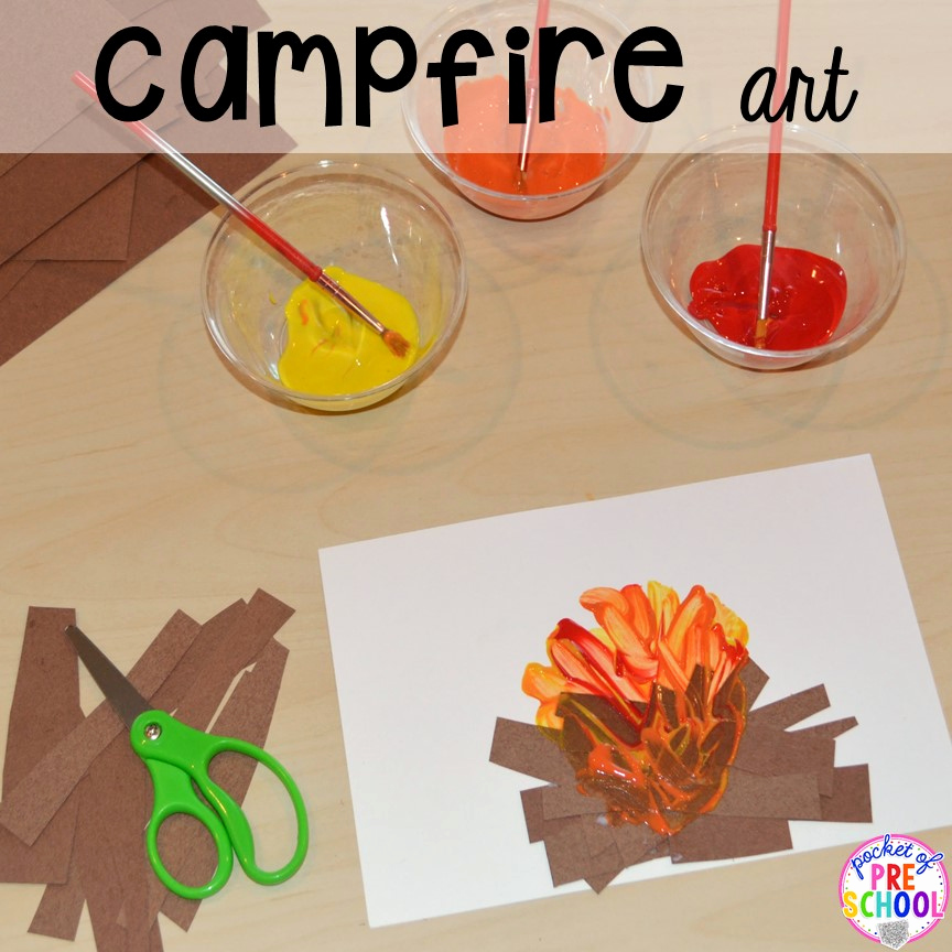 Camping themed Worksheets Elegant Camping Centers and Activities Pocket Of Preschool