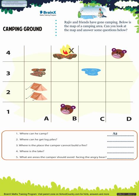 Camping themed Worksheets Elegant Camping Ground Math Worksheet for Grade 2