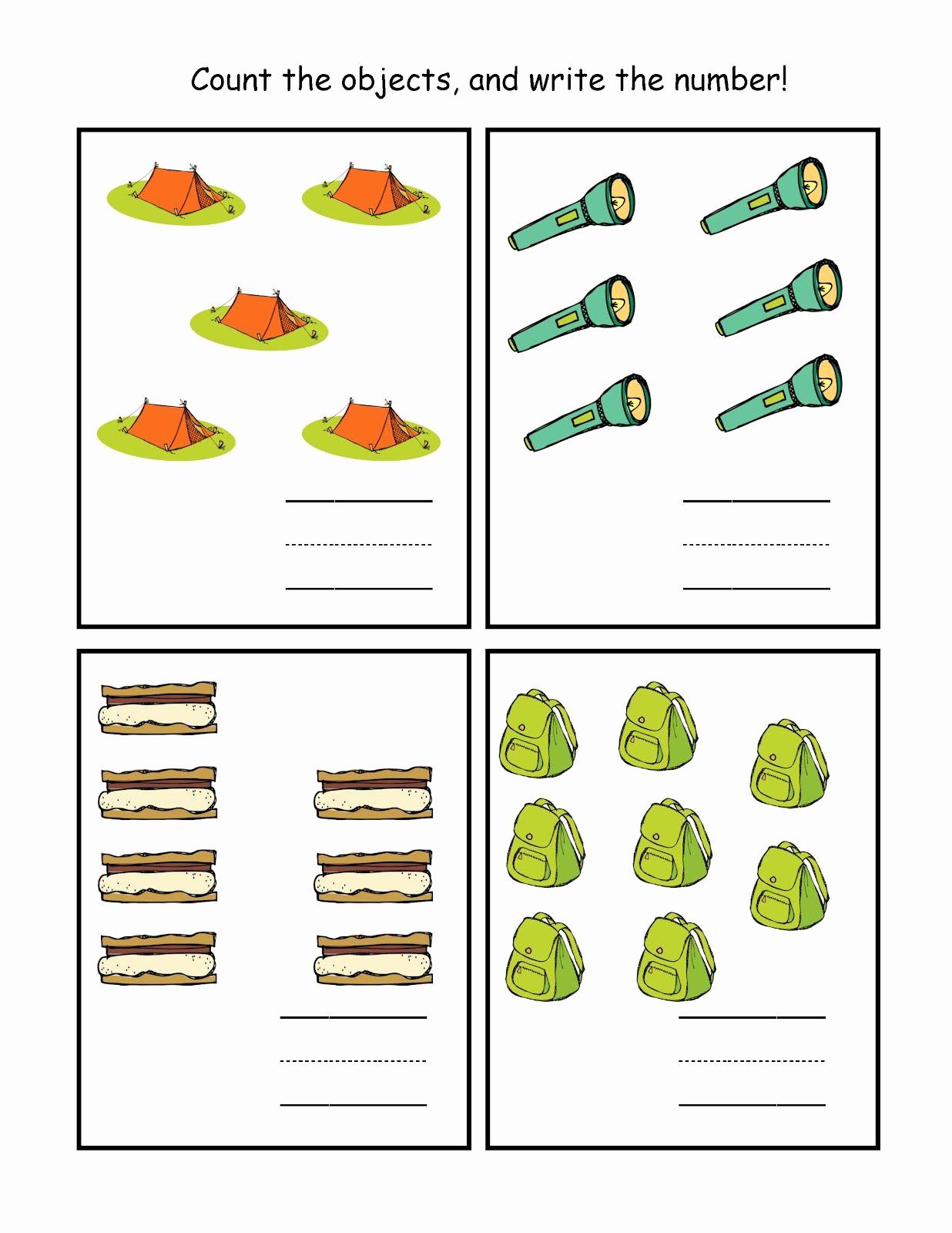 Camping themed Worksheets Fresh Preschool Printables Camping