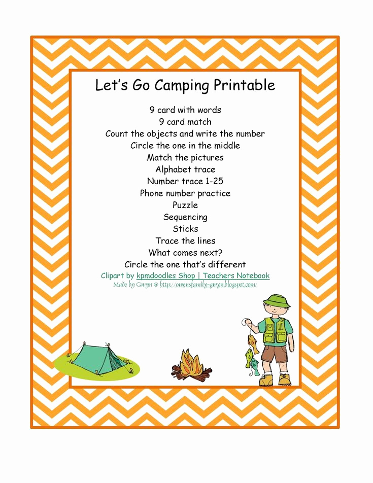 Camping themed Worksheets Inspirational 126 Best Preschool Camping theme Images On Pinterest