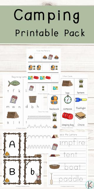 Camping themed Worksheets Inspirational Free Camping Worksheets