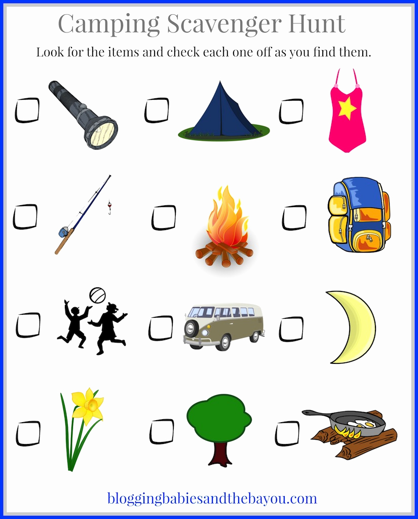 Camping themed Worksheets Lovely Camping with Kids Children S Camping themed Printables