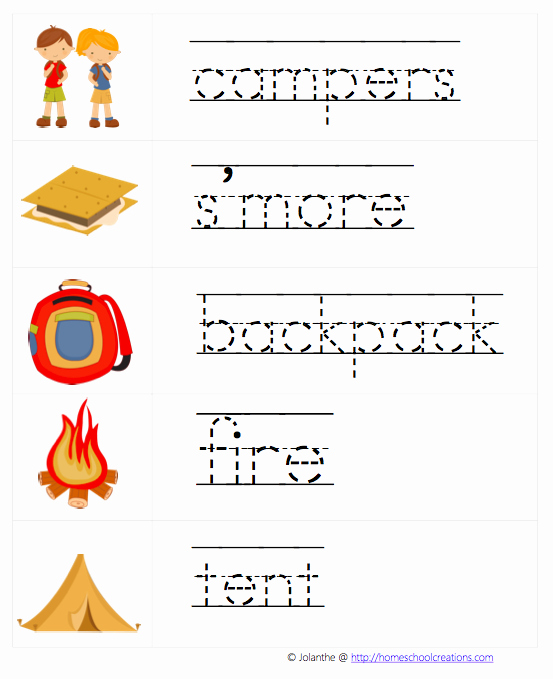 Camping themed Worksheets Luxury Autism Tank Resource for thematic Worksheets