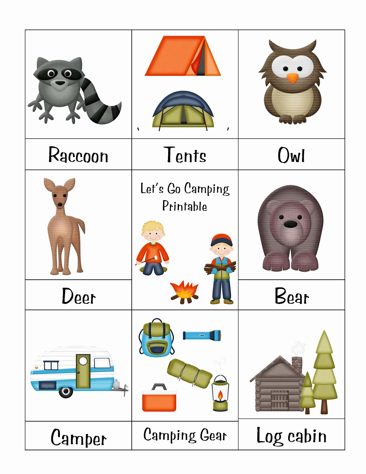 Camping themed Worksheets New A Camping We Will Go On Pinterest
