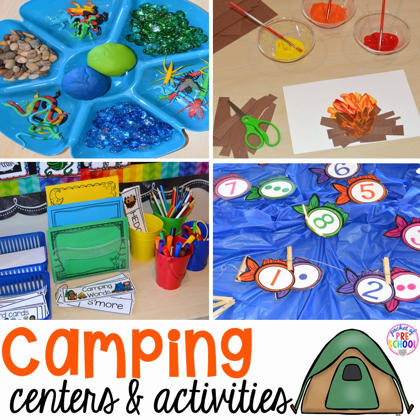 Camping themed Worksheets Unique Camping Centers and Activities Pocket Of Preschool