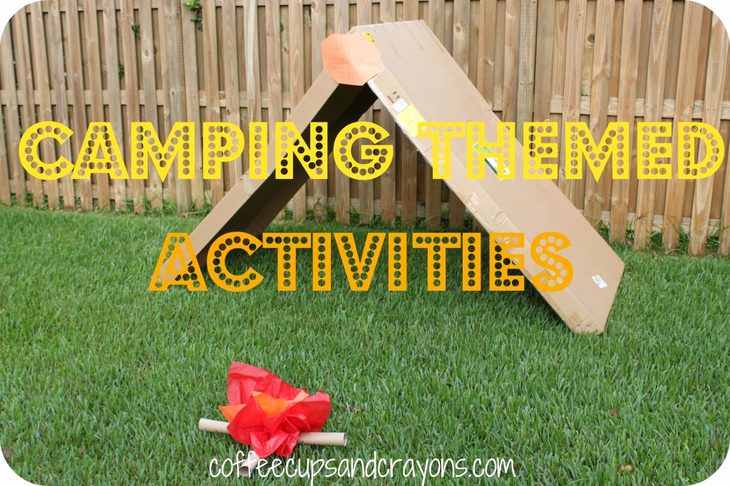 Camping themed Worksheets Unique Camping themed Kids Activities