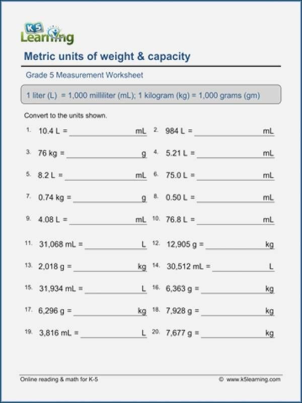 Capacity Conversion Worksheet Fresh 30 Capacity Conversion Worksheet