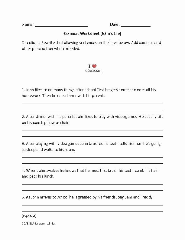 Capitalization Worksheet Middle School New Capitalization Worksheet Middle School Punctuation