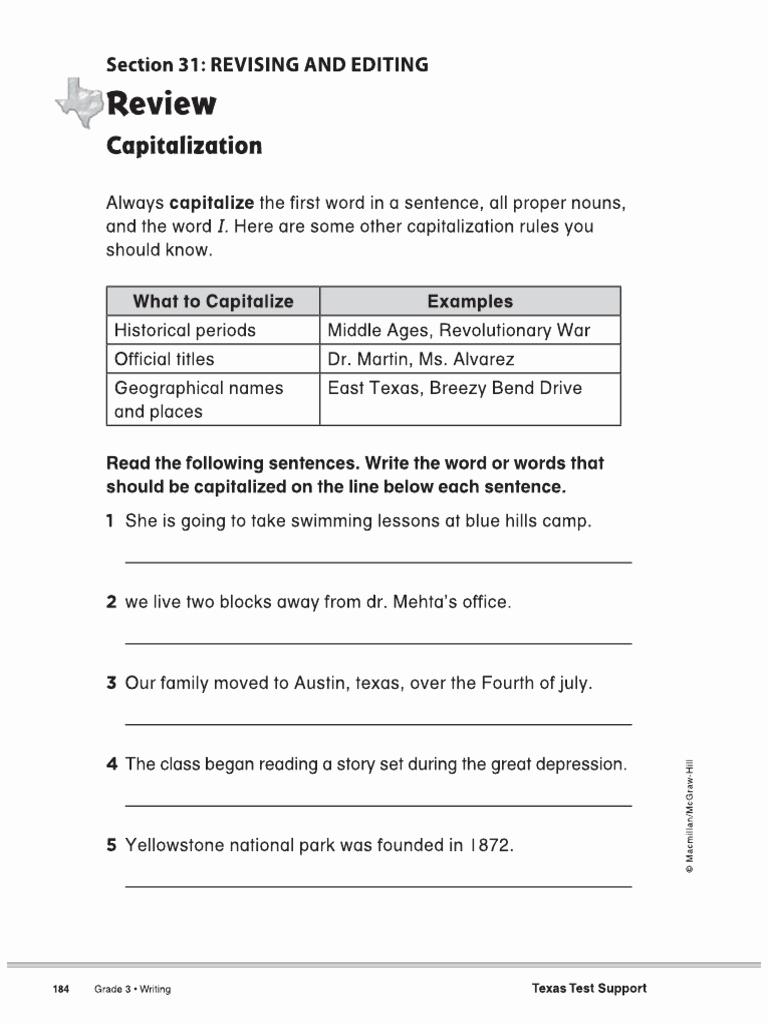 Capitalization Worksheets 4th Grade Pdf Beautiful 20 Capitalization Worksheets 4th Grade Pdf