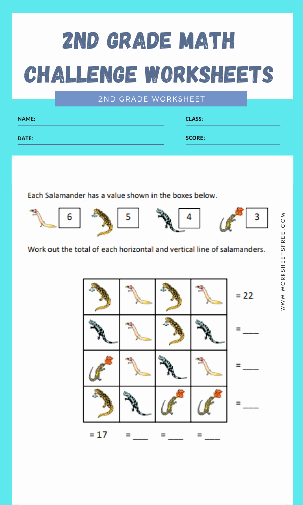Challenge Math Worksheets Inspirational 2nd Grade Math Challenge Worksheets 1