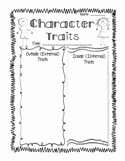 Character Traits Worksheet 2nd Grade Best Of 25 Character Traits Worksheet 2nd Grade