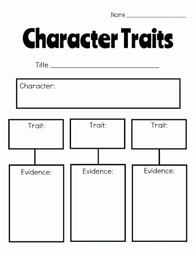 Character Traits Worksheet 2nd Grade Fresh Character Traits Worksheet 2nd Grade Character Sketch