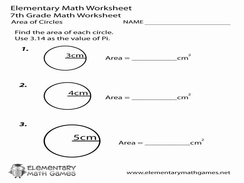 Circle Graphs Worksheets 7th Grade Unique Equations Circles Worksheet Tessshebaylo