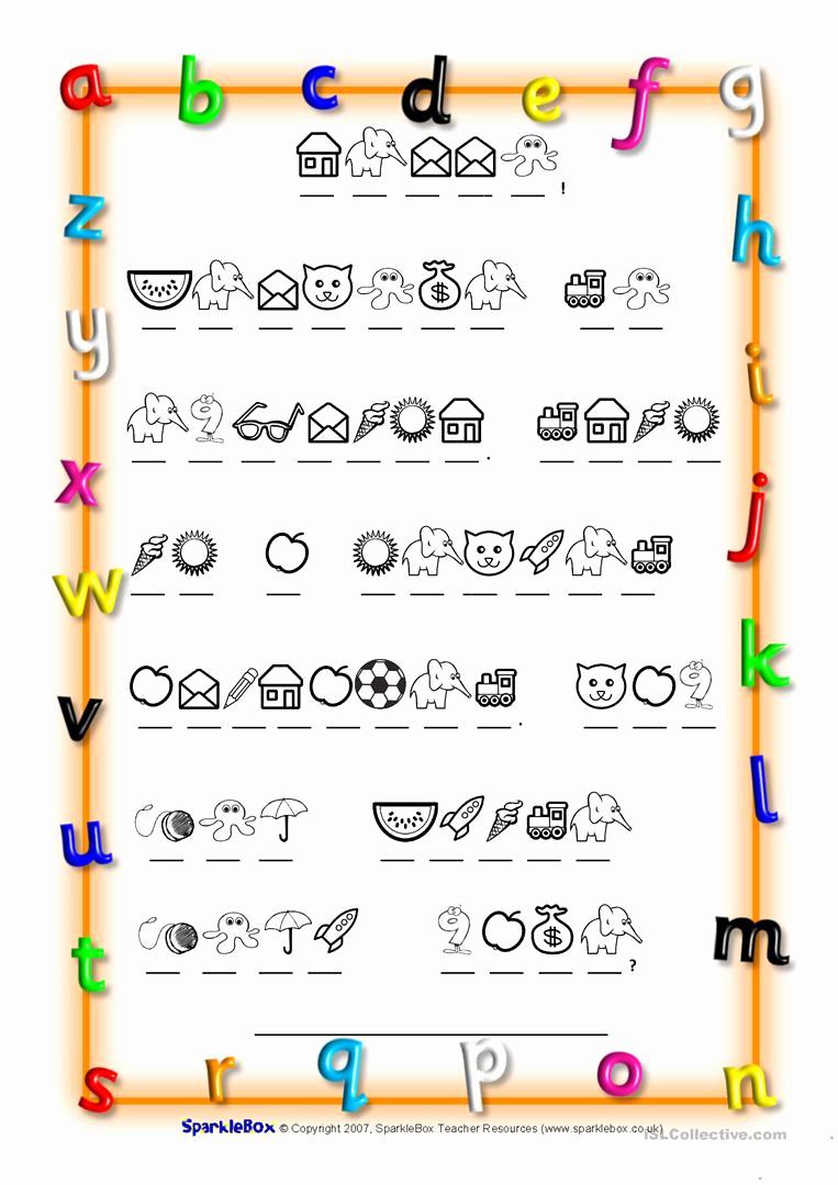 Code Breaker Worksheet Elegant Code Breaker Alphabet Worksheet Free Esl Printable
