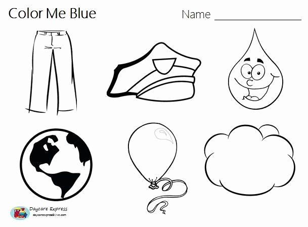 Color Blue Worksheets for Preschool Awesome Worksheets for Color Blue