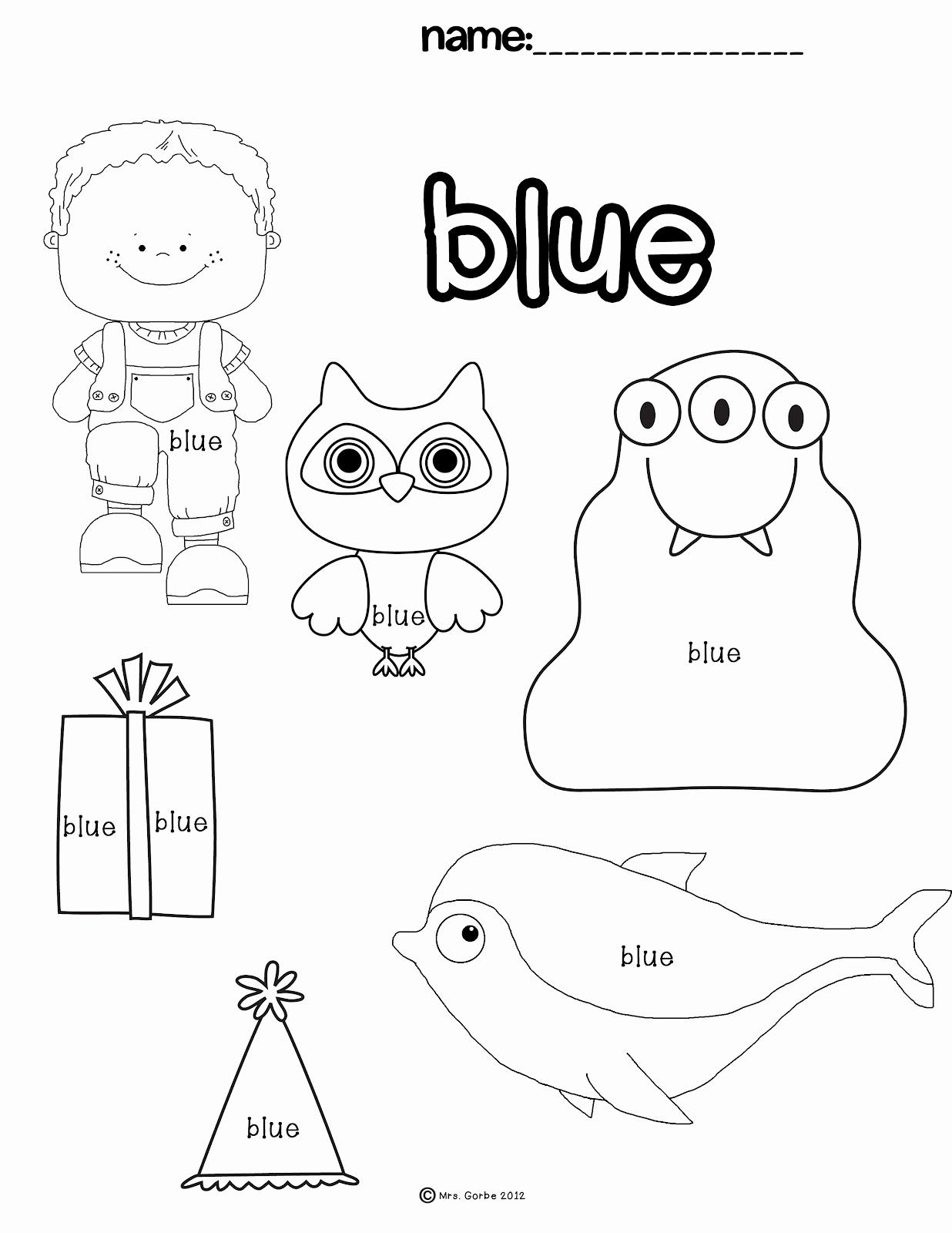 Color Blue Worksheets for Preschool Best Of Color Blue Worksheets Preschool Sketch Coloring Page