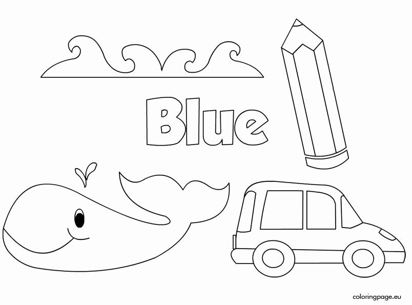 Color Blue Worksheets for Preschool Elegant the Color Blue – Coloring Page