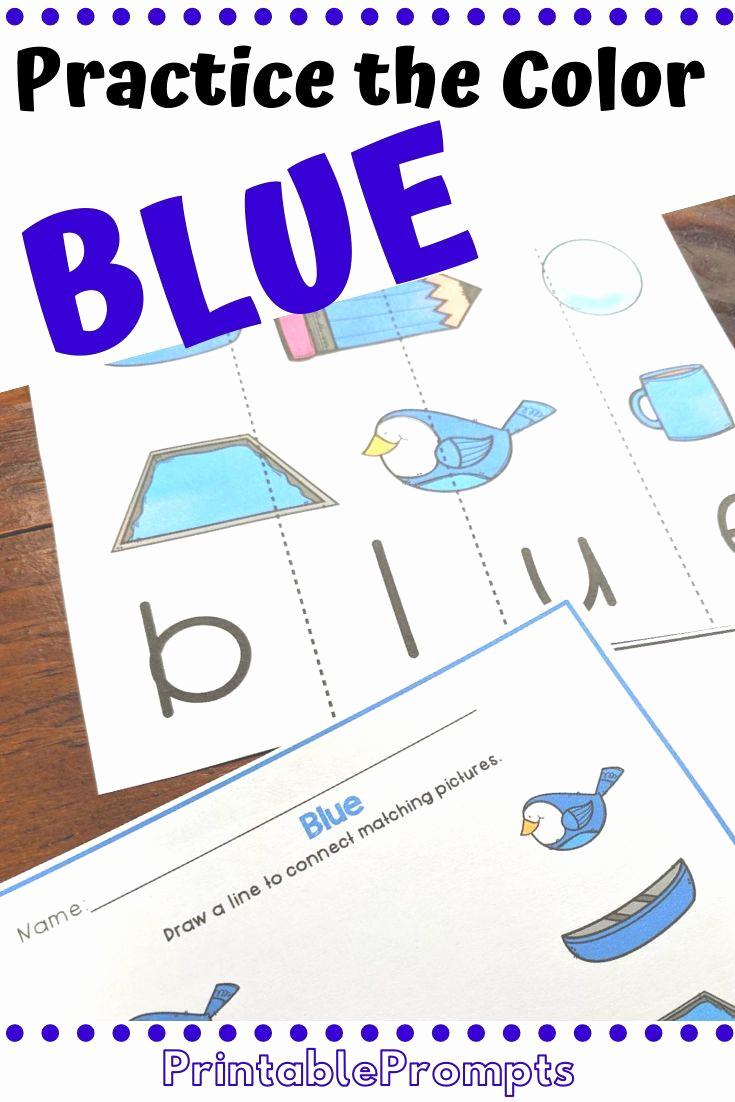 Color Blue Worksheets for Preschool Fresh Color Blue Activities