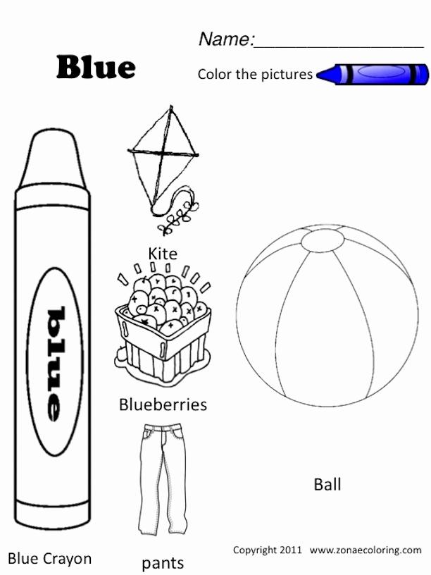 Color Blue Worksheets for Preschool Inspirational 12 Best Of English Primary 1 Worksheet