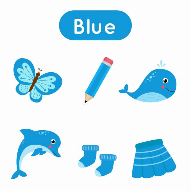 Color Blue Worksheets for Preschool Inspirational Premium Vector