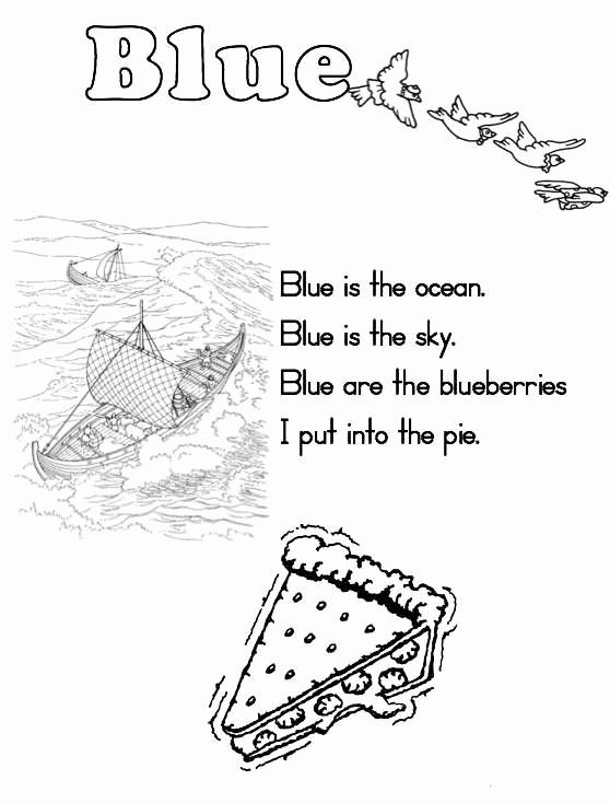 Color Blue Worksheets for Preschool New Color Blue Worksheets for Preschoolers